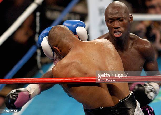 Antonio Tarver hits Roy Jones Jr with a body shot during their WBC Light Heavyweight Title bout Jones won on a split desicison Claim The WBC Light...