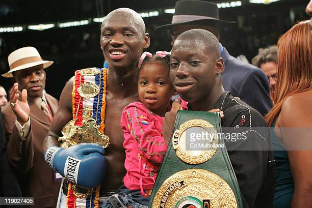 Antonio Tarver poses after his third fight against Roy Jones Jr for the World Light Heavyweight Championship at the St Pete Times Arena in Tampa...