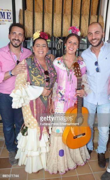 Antonio Tejado and Maria del Monte during El Rocio a traditional Spanish pilgrimage on June 2 2017 in Huelva Spain