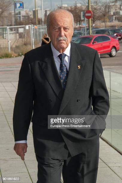 Antonio Tejero attends the funeral chapel for Carmen Franco daughter of the dictator Francisco Franco on December 29 2017 in Madrid Spain