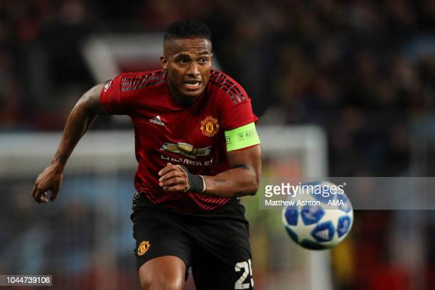 Antonio Valencia of Manchester United during the Group H match of the UEFA Champions League between Manchester United and Valencia at Old Trafford on...