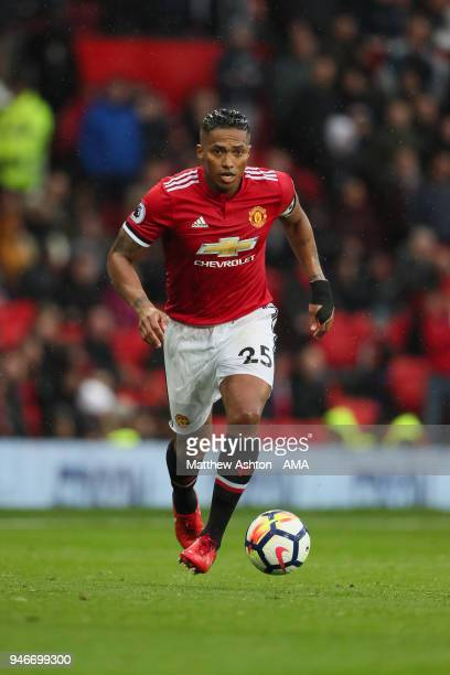 Antonio Valencia of Manchester United during the Premier League match between Manchester United and West Bromwich Albion at Old Trafford on April 15...