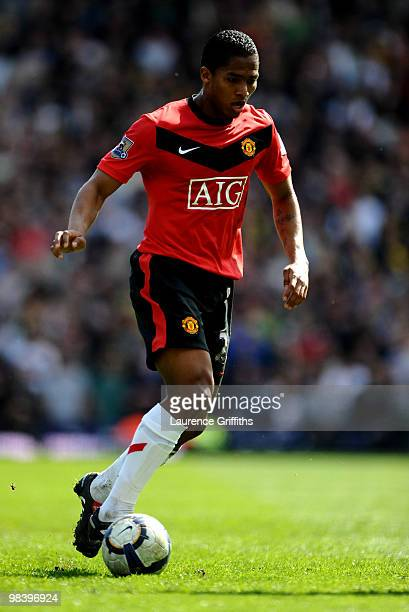 Antonio Valencia of Manchester United in action during the Barclays Premier League Match between Blackburn Rovers and Manchester United at Ewood Park...