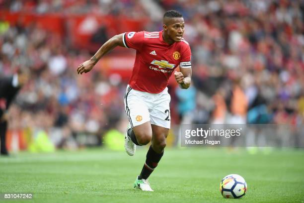 Antonio Valencia of Manchester United in action during the Premier League match between Manchester United and West Ham United at Old Trafford on...