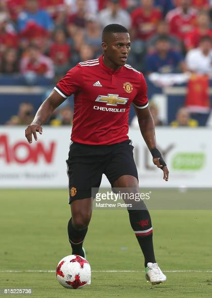 Antonio Valencia of Manchester United in action during the preseason friendly match between LA Galaxy and Manchester United at StubHub Center on July...
