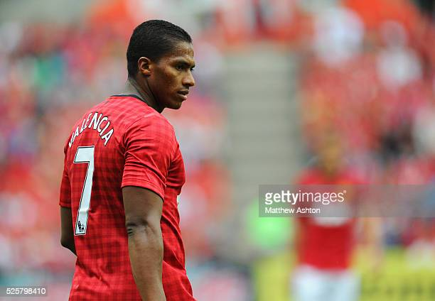 Antonio Valencia of Manchester United wearing the number 7 shirt
