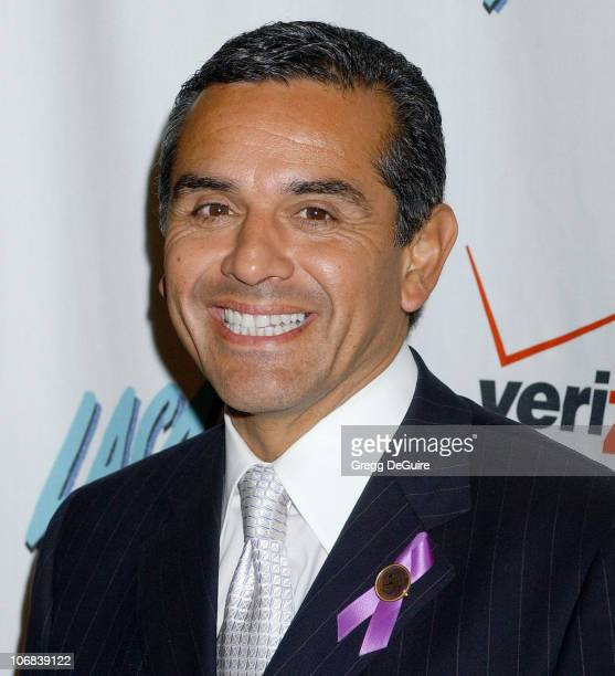 Antonio Villaraigosa, Mayor of Los Angeles during Calista Flockhart Receives The Community Service Award at The Los Angeles Commission on Assaults...
