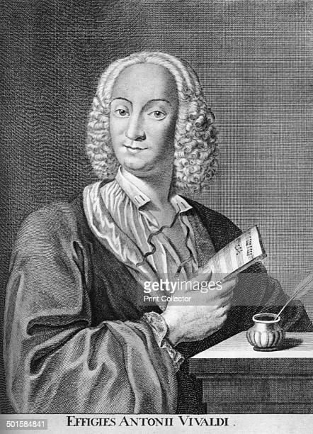 Antonio Vivaldi Italian Baroque composer Catholic priest and virtuoso violinist 1725 A print from Les Musiciens Celebres Lucien Mazenod Paris 1948