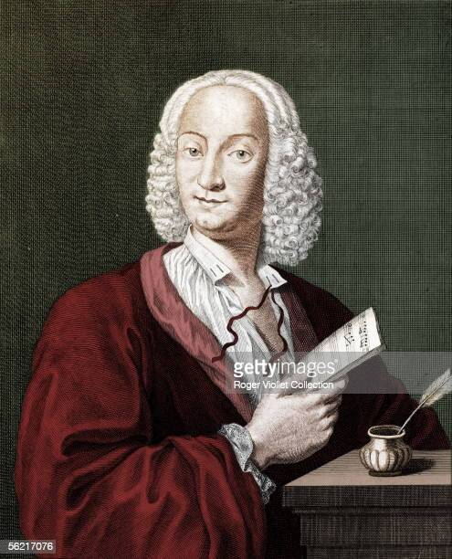 Antonio Vivaldi Italian composer National library Colourized photo