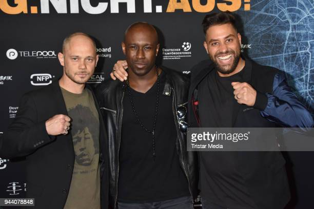 Antonio Wannek and guests attend the 'Steig Nicht Aus' Premiere on April 9 2018 in Berlin Germany