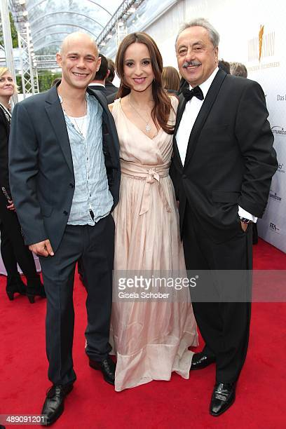 Antonio Wannek Stephanie Stumph and Wolfgang Stumph attend the Lola German Film Award 2014 at Tempodrom on May 9 2014 in Berlin Germany
