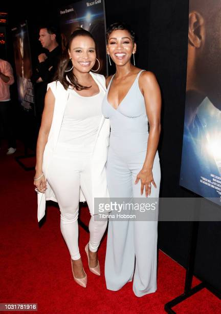 Antonique Smith and Meagan Good attend the premiere of 'A Boy A Girl A Dream' at ArcLight Hollywood on September 11 2018 in Hollywood California