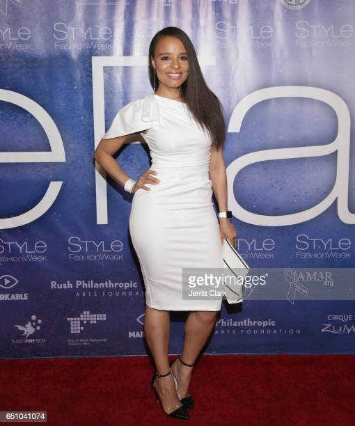 Antonique Smith attends Malan Breton's 3D Cinematic Runway Show at Style Fashion Week Los Angeles at Pacific Design Center on March 9 2017 in West...