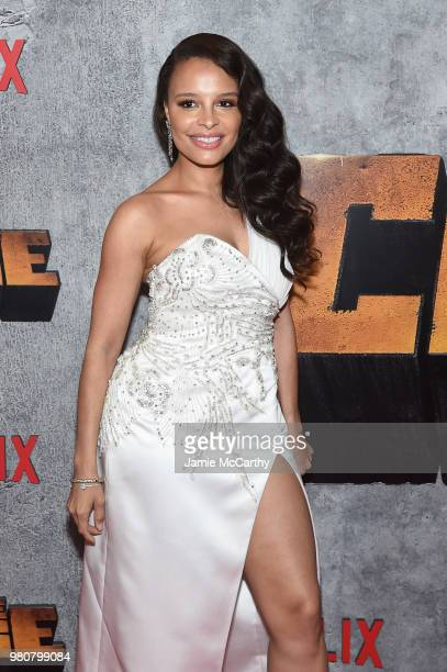 Antonique Smith attends the 'Luke Cage' Season 2 premiere at The Edison Ballroom on June 21 2018 in New York City