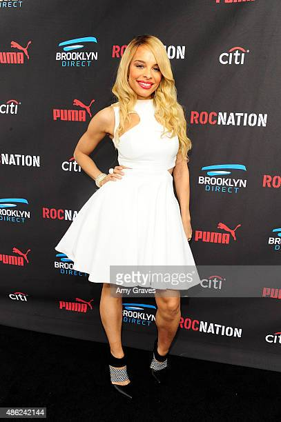 Antonique Smith attends the Roc Nation Grammy Brunch 2015 on February 7 2015 in Beverly Hills California