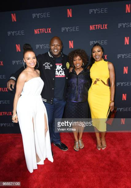 Antonique Smith Cheo Hodari Coker Alfre Woodard and Gabrielle Dennis attend the Netflix FYSee Kick Off Party at Raleigh Studios on May 6 2018 in Los...