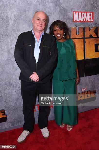 Antonique Smith Heather B and Rosario Dawson attend the Netflix Original Series Marvel's Luke Cage Season 2 New York City Premiere on June 21 2018 in...