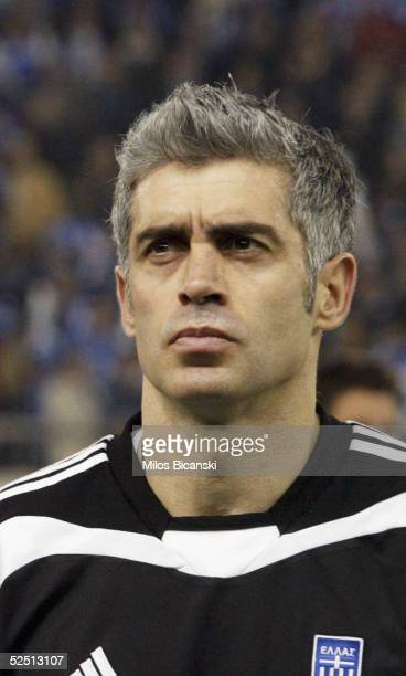 Antonis Nikopolidis of Greece poses for a portrait before their 2006 World Cup qualification football match against Albania on March 30, 2005 at...