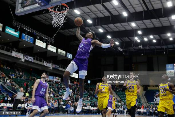 Antonius Cleveland of the Texas Legends dunks in the fourth quarter against the South Bay Lakers on January 04, 2020 at Comerica Center in Frisco,...
