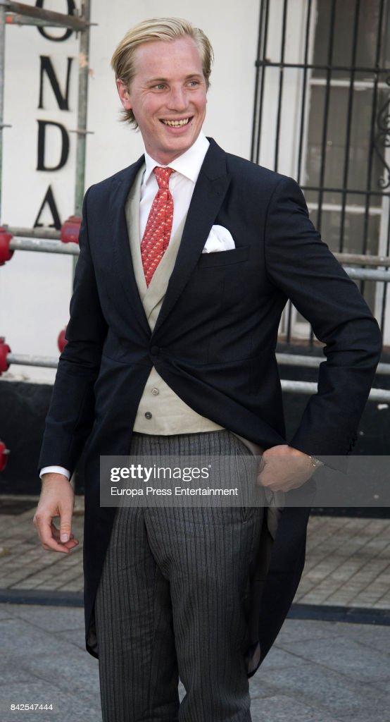 Antonius Willms is seen attending the wedding of Marie-Gabrielle of Nassau and Antonius Willms on September 2, 2017 in Marbella, Spain.