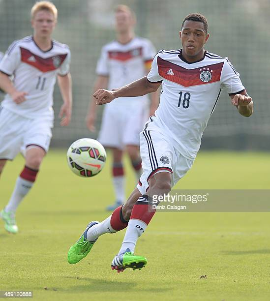 AntonLeander Donkor of Germany in action during the international friendly match between U18 Germany and U18 Turkey on November 17 2014 in Side Turkey