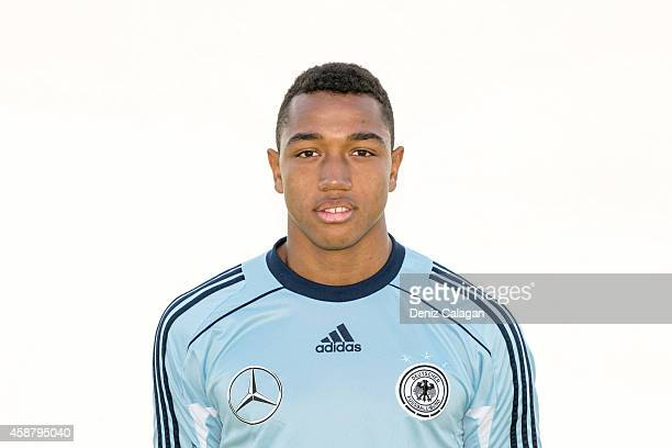AntonLeander Donkor poses during the team presentation of U18 Germany on November 11 2014 in Belek Turkey