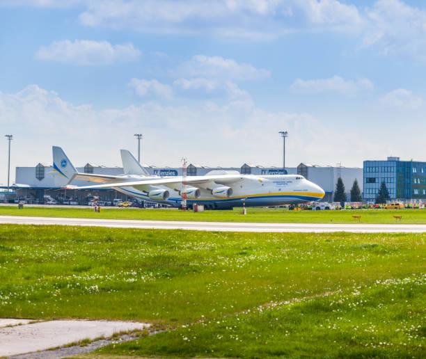Antonov An-225 Mriya on tarmac at Prague International Airport