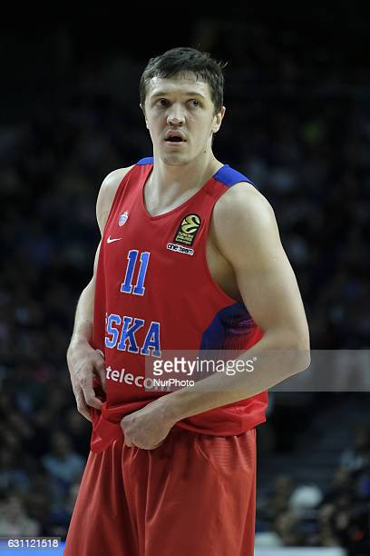 Antonov of CSKA Moscow in action during the 2016/2017 Turkish Airlines EuroLeague Regular Season Round 16 game between Real Madrid v CSKA Moscow at...
