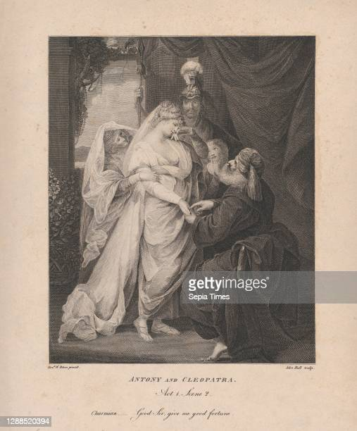 Antony and Cleopatra, Act 1, Scene 2: Charmian–'Good Sir, give me good fortune', January 1 Engraving and etching, sheet : 13 11/16 x 11 1/16 in. ,...