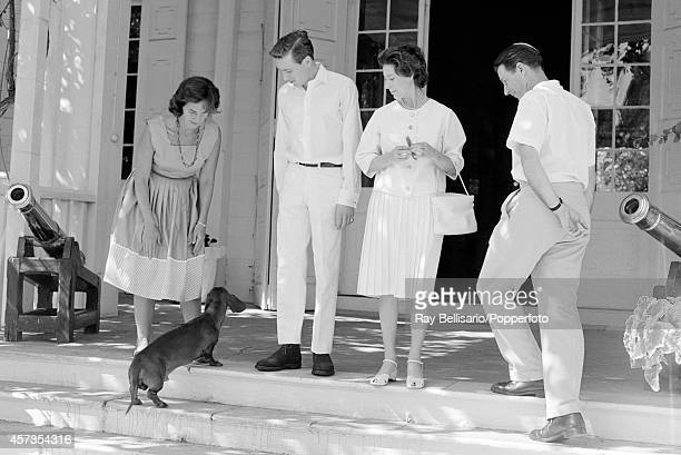Antony ArmstrongJones and Princess Margaret at Government House in St John's Antigua on 6th January 1962