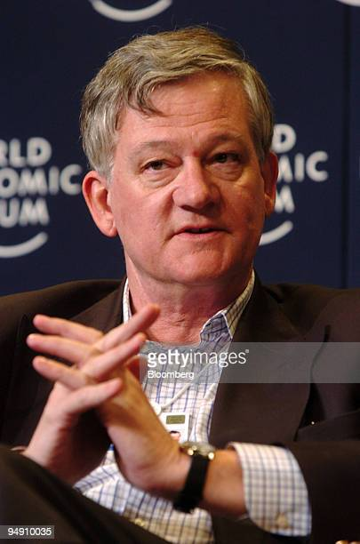Antony Burgmans chairman Unilever is seen during a panel discussion at the World Economic Forum in Davos Switzerland January 24 2004