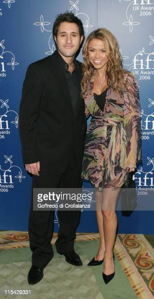Antony Costa and Adele Silva during UK FiFi Awards 2006 Arrivals at The Dorchester in London Great Britain