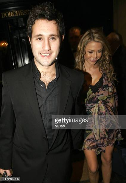 Antony Costa and Adele Silva during UK FiFi Awards 2006 Departures at The Dorchester in London Great Britain