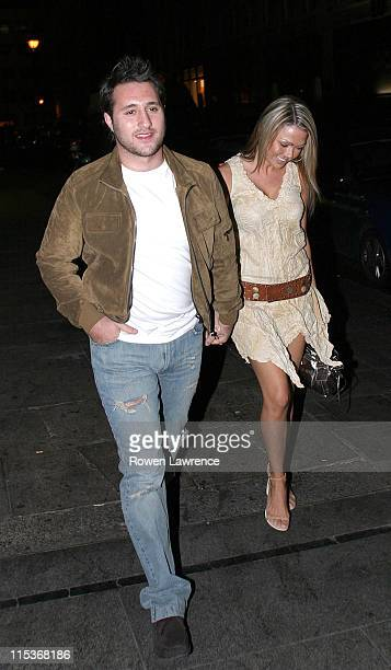 Antony Costa and Adele Silva during Will Mellor's Birthday Party at The Embassy Club March 27 2005 at The Embassy Club in London Great Britain