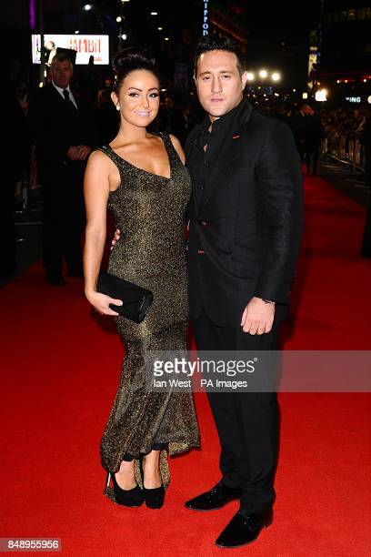 Antony Costa and guest arriving for the premiere of Gambit at the Empire Leicester Square London