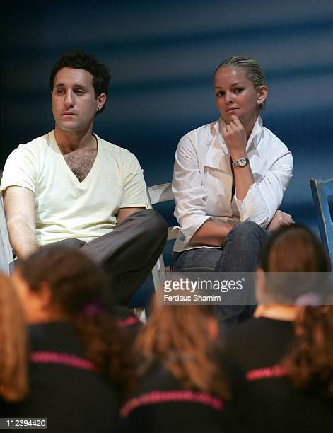 Antony Costa and Jennifer Ellison during Kids Week In The West End Press launch July 25 2006 at Prince of Wales Theatre in London