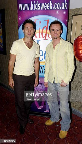 Antony Costa and Jon Lee during Kids Week In The West End Press Launch July 25 2006 at Coventry Street in London Great Britain