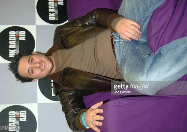 Antony Costa during UK Radio Aid to Benefit Victims of the Asian Tsunami Green Room at Capital Radio in London United Kingdom