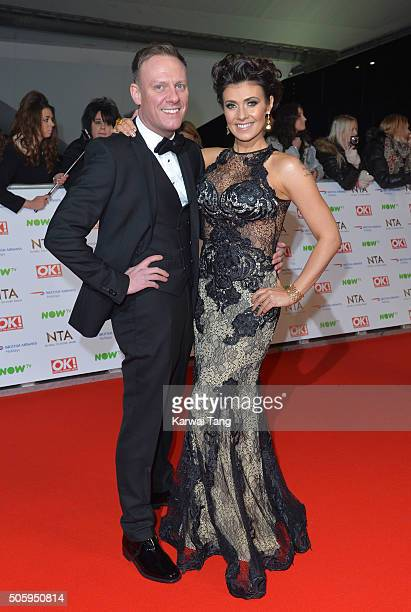 Antony Cotton and Kym Marsh attend the 21st National Television Awards at The O2 Arena on January 20 2016 in London England