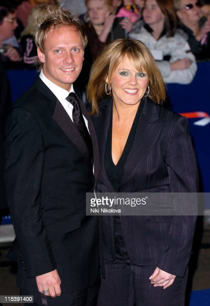 Antony Cotton and Sally Lindsay during National Television Awards 2005 at Royal Albert Hall London in London United Kingdom