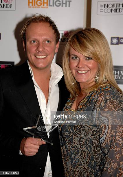 Antony Cotton and Sally Lindsay during North West Comedy Awards 2007 at Midland Hotel in Manchester Great Britain