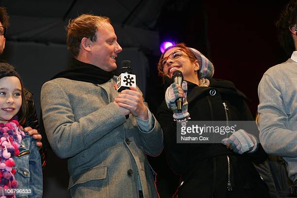 Antony Cotton and Shobna Gulati attend Manchester's Christmas lights switchon at Albert Square on November 12 2010 in Manchester England