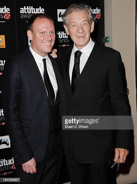 Antony Cotton and Sir Ian Mckellan attend the Attitude Magazine Awards at One Mayfair on October 16 2012 in London England