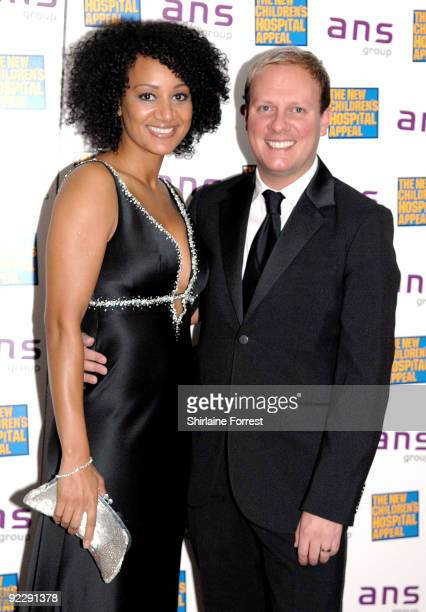 Antony Cotton and Tupele Dorgu attend Notte Bella Il Finito fundraising event for The New Children's Hospital Appeal at The Hilton on October 22 2009...