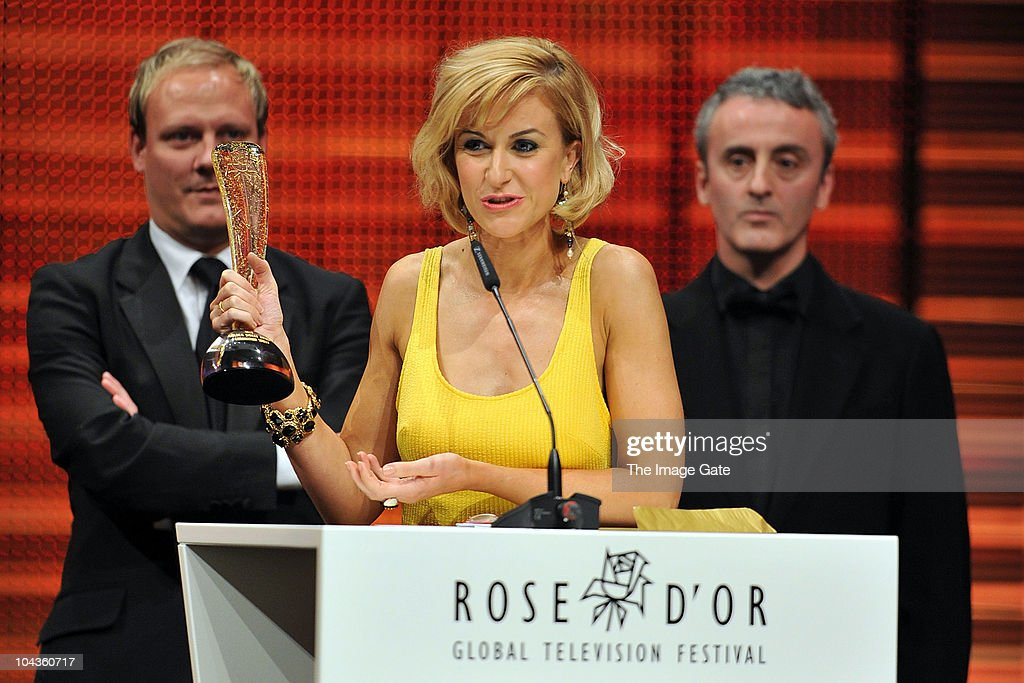 Antony Cotton, Katherine Kelly and Kieran Roberts of Coronation Street receive the Rose d�Or Golden Jubilee Award during at the 50th Rose d'Or Television Festival - Award Ceremony on September 22, 2010 in Lucerne, Switzerland.