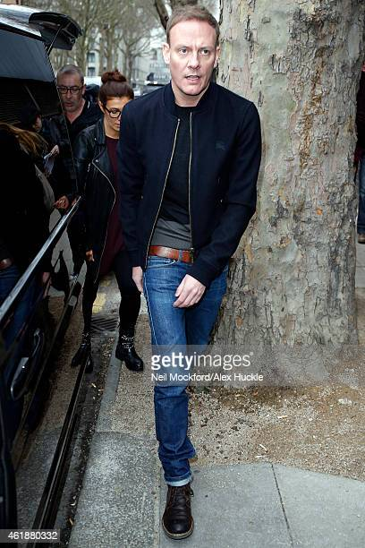 Antony Cotton seen arriving at Euston Station ahead of the National Television Awards on January 21 2015 in London England