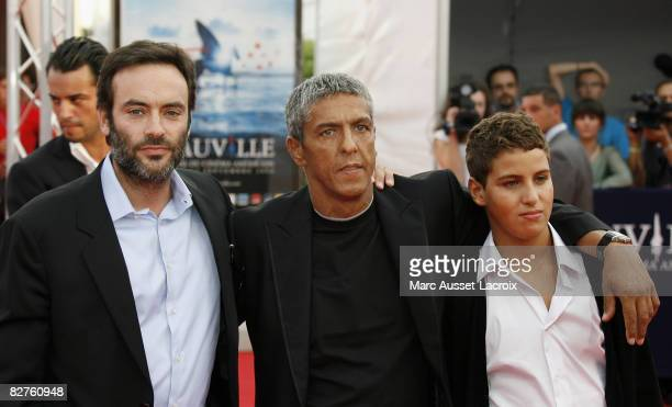 Antony Delon and Samy Naceri and his son Julian arrives for the screening of the movie 'Miracle at St Anna' by US director Spike Lee on September 10...