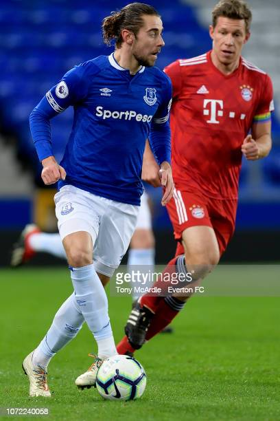 Antony Evans of Everton during the Premier League International Cup match between Everton U23 and Bayern Munich II at Goodison Park on December 12...