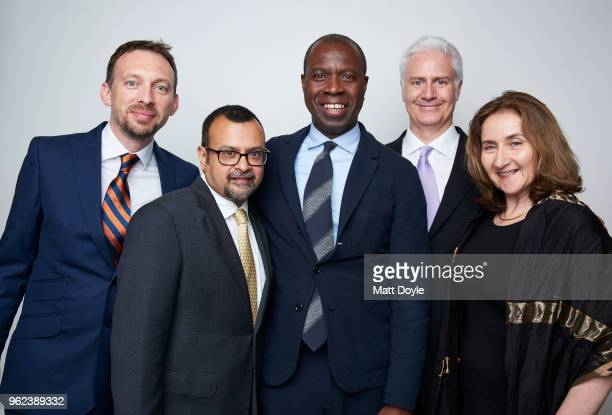 Antony Garvey Sanjoy Majumder Clive Myrie Robert Magee and Kate Peters of 'Plight of Rohingya Refugees' pose for a portrait at The 77th Annual...