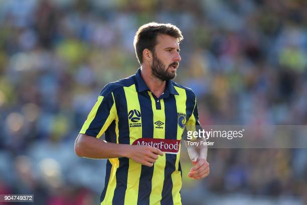 Antony Golec of the Mariners during the round 16 ALeague match between the Central Coast Mariners and Melbourne City at Central Coast Stadium on...